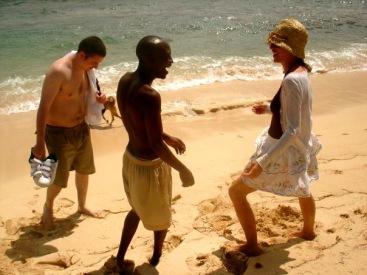 Sadie Kaye, Geoff Nganga and Chris Tahaney