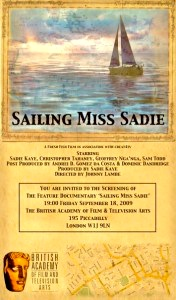 Sailing Miss Sadie BAFTA Invite