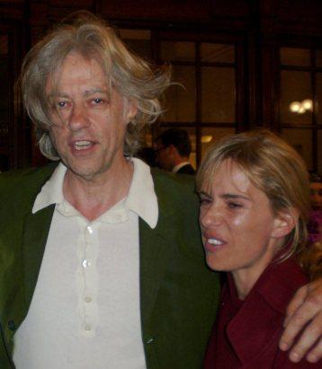 Bob Geldof and Sadie Kaye