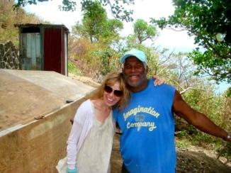 Sadie Kaye and Brian the builder