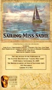 Sailing Miss Sadie BAFTA screening invite