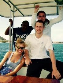 Sadie Kaye and her Prince's Trust young offenders on Sailing Miss Sadie