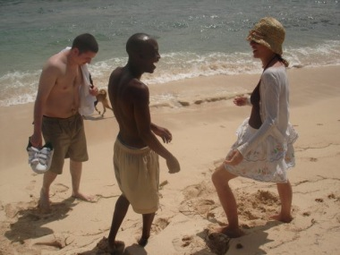 Chris, Geoff and Sadie Kaye