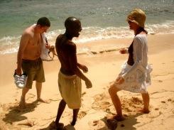 Sadie Kaye, Geoffrey Nganga and Chris Tahaney