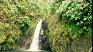Sadie Kaye leaps off a 60ft Waterfall in Grenada