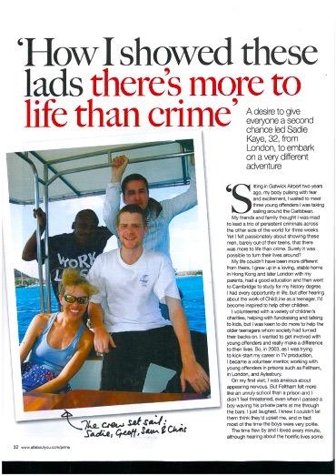 Sadie Kaye in Prima Magazine (2012)