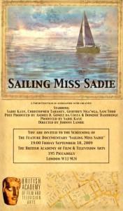 Sailing Miss Sadie BAFTA Screening