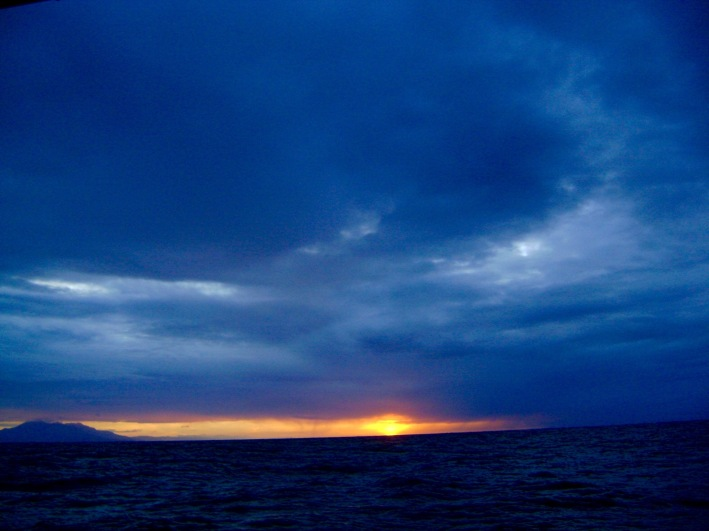 Venezuela at dawn from yacht